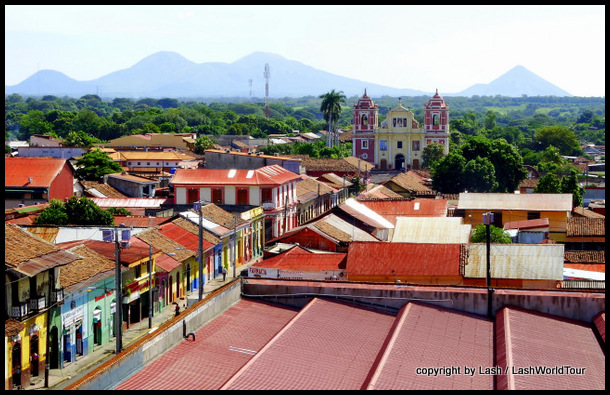 Leon - Nicaragua and nearby volcanoes