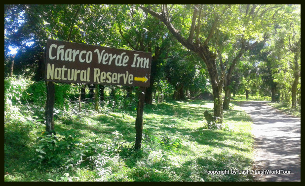 entrance to Charco Verde Nature Reserve - Ometepe