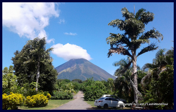 stunning view of Conception Volcano from Charco Verde