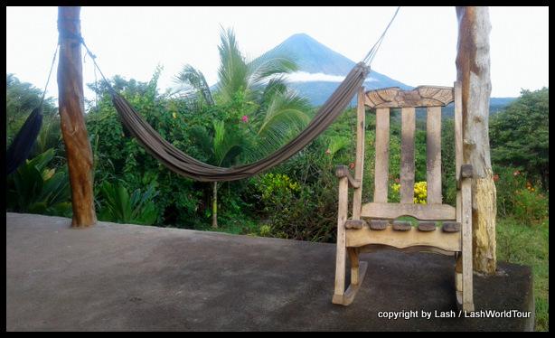 view at my accommodation in Santa Cruz