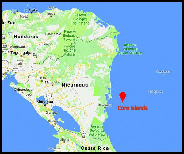 Corn Islands - Nicaragua map